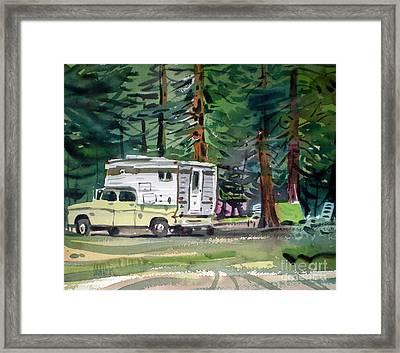 Sierra Campsite Framed Print by Donald Maier
