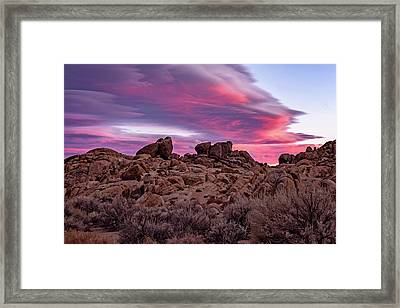 Sierra Clouds At Sunset Framed Print
