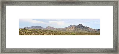 Sierra Estrella Mountains Panorama Framed Print by Sharon Broucek