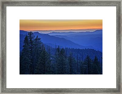 Sierra Fire Framed Print by Rick Berk
