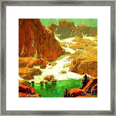 Sierra Landscape Circa 1920 Framed Print