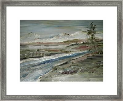 Sierra Mountain Stream Framed Print by Edward Wolverton