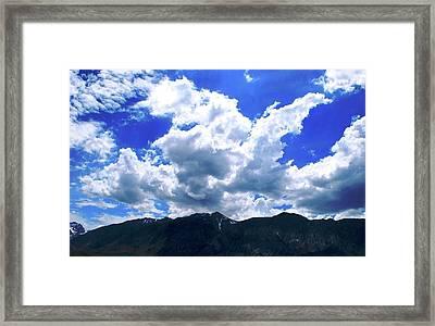 Sierra Nevada Cloudscape Framed Print