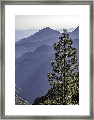 Framed Print featuring the photograph Sierra Nevada Foothills by Steven Sparks