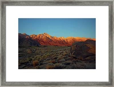 Sierra Nevada Sunrise Framed Print