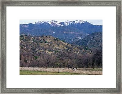 Sierra Nevada Westside Framed Print
