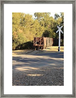 Sierra Railway Hoppers Framed Print by Troy Montemayor