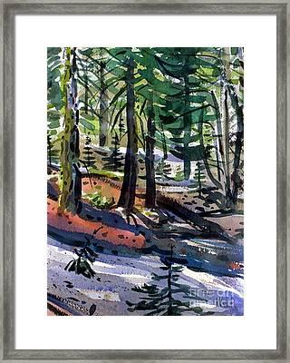 Sierra Snowdrifts Framed Print by Donald Maier
