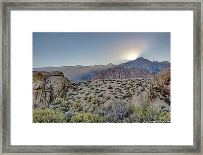 Sierra Sunrays Framed Print