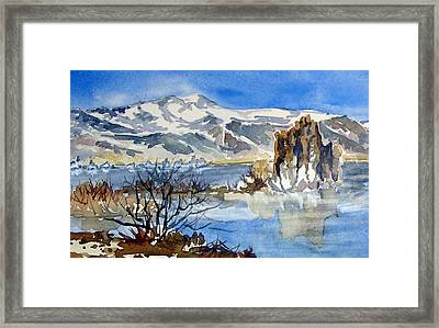 Framed Print featuring the painting Sierra View by Pat Crowther