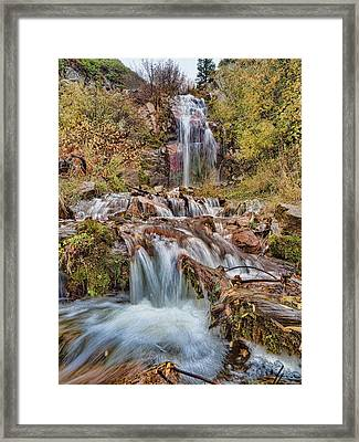 Sierra Waterfall Framed Print