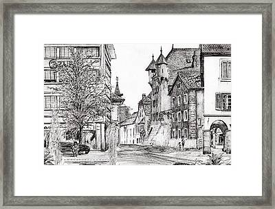 Sierre, Switzerland Framed Print by Vincent Alexander Booth