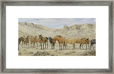 Siesta At Noon Framed Print by Cathy Cleveland