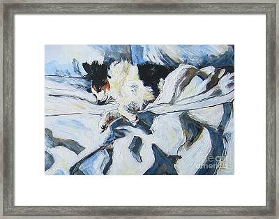 Framed Print featuring the painting Siesta by Debora Cardaci