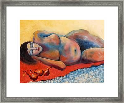 Siesta Desnuda Framed Print by Niki Sands