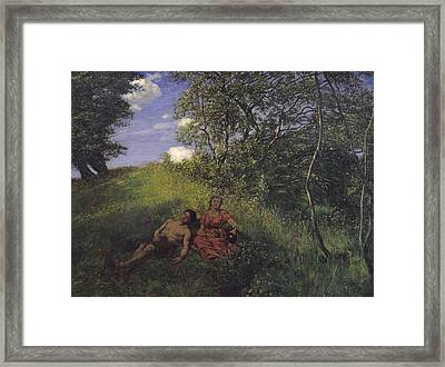 Siesta Framed Print by Hans Thoma