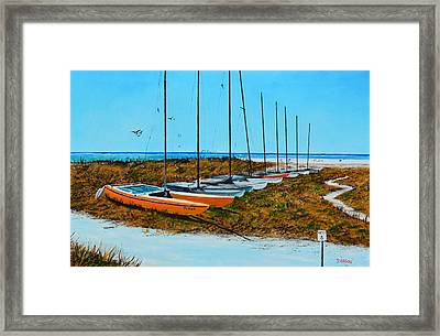Siesta Key Access #8 Catamarans Framed Print
