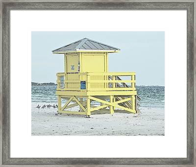 Siesta Key Beach 1 Framed Print