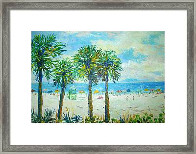 Siesta Key Beach Framed Print