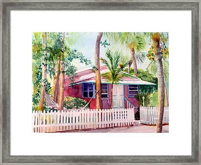 Siesta Key Cottage Framed Print