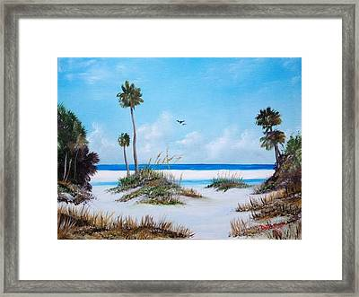 Siesta Key Fun Framed Print