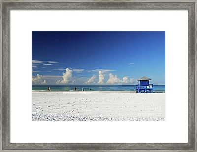 Framed Print featuring the photograph Siesta Key Life Guard Shack by Gary Wonning