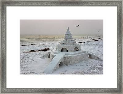 Siesta Key Sandcastle Framed Print