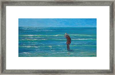 Siesta Key Searching Framed Print