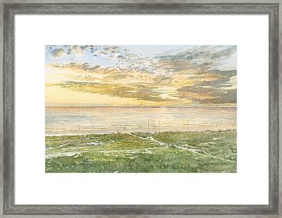 Siesta Key Sunset Framed Print