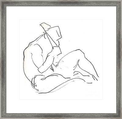 Siesta - Male Nude Framed Print