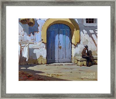 Siesta Time In Naples Framed Print