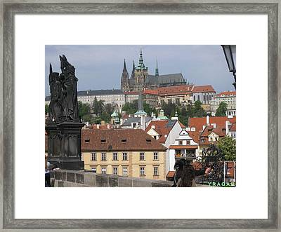 Framed Print featuring the pyrography Sight At Prague by Yury Bashkin