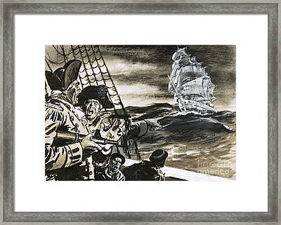 Sighting Of A Ghost Ship Framed Print by Ralph Bruce