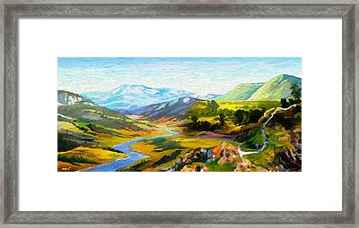 Sights And Sounds Framed Print