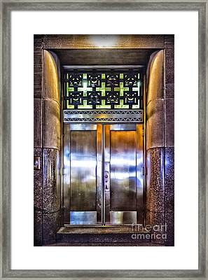 Framed Print featuring the photograph Sights In New York City - Bright Door by Walt Foegelle