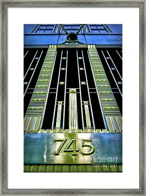 Framed Print featuring the photograph Sights In New York City - Classy Address by Walt Foegelle