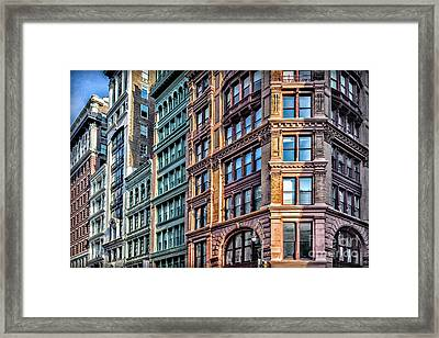 Framed Print featuring the photograph Sights In New York City - Colorful Buildings by Walt Foegelle