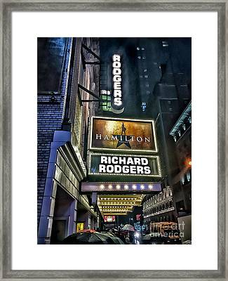 Sights In New York City - Hamilton Marquis Framed Print