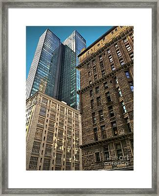 Framed Print featuring the photograph Sights In New York City - Old And New 2 by Walt Foegelle