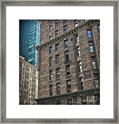 Framed Print featuring the photograph Sights In New York City - Old And New by Walt Foegelle