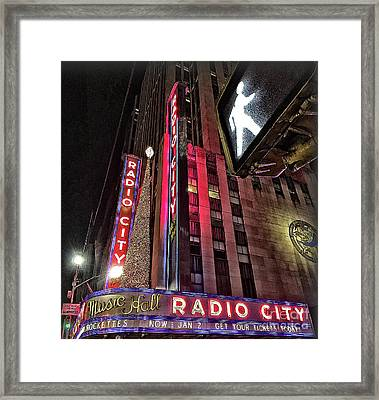Framed Print featuring the photograph Sights In New York City - Radio City by Walt Foegelle