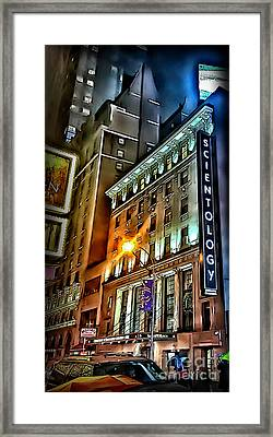 Framed Print featuring the photograph Sights In New York City - Scientology by Walt Foegelle