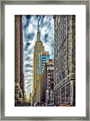 Framed Print featuring the photograph Sights In New York City - Skyscrapers 10 by Walt Foegelle