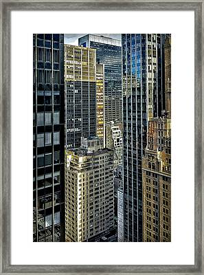 Framed Print featuring the photograph Sights In New York City - Skyscrapers Shot From Skyscraper by Walt Foegelle