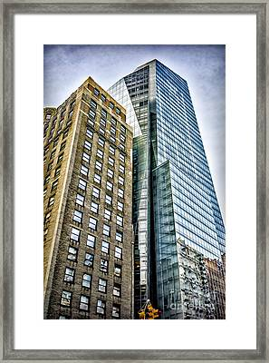 Framed Print featuring the photograph Sights In New York City - Skyscrapers by Walt Foegelle