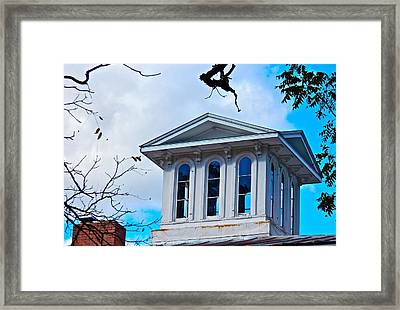 Sightseeing Cupola Framed Print by Randy Rosenberger