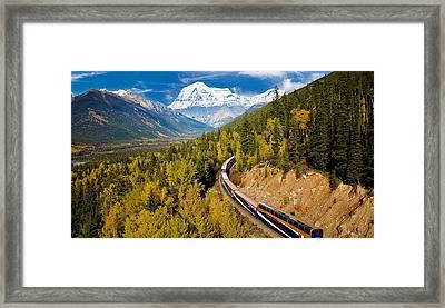 Sightseeing Thru Canadian Rockies Framed Print