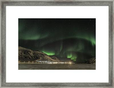 Framed Print featuring the photograph Siglufjordur by Frodi Brinks