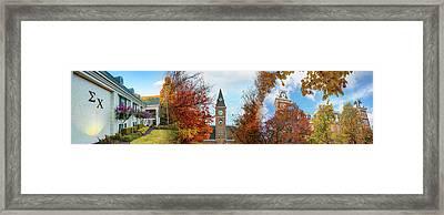 Sigma Chi University Of Arkansas Autumn Panorama Framed Print