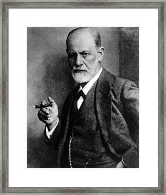 Sigmund Freud 1856-1939, Photograph Framed Print by Everett